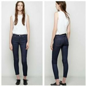 Acne Studio pin raw reform high waist denim jeans